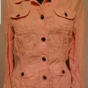 J. Jill Womens Button Up Jacket Petite Small SP Or